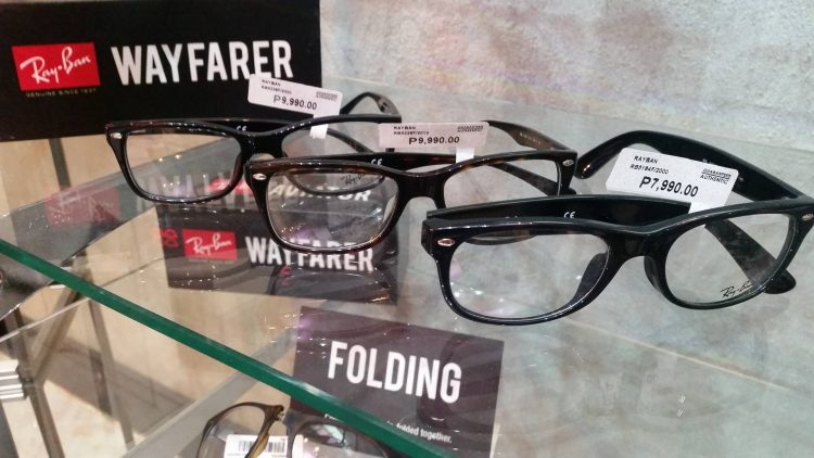 Wayfarer frames for the frame-type lovers (and those with poor eyesight like us).